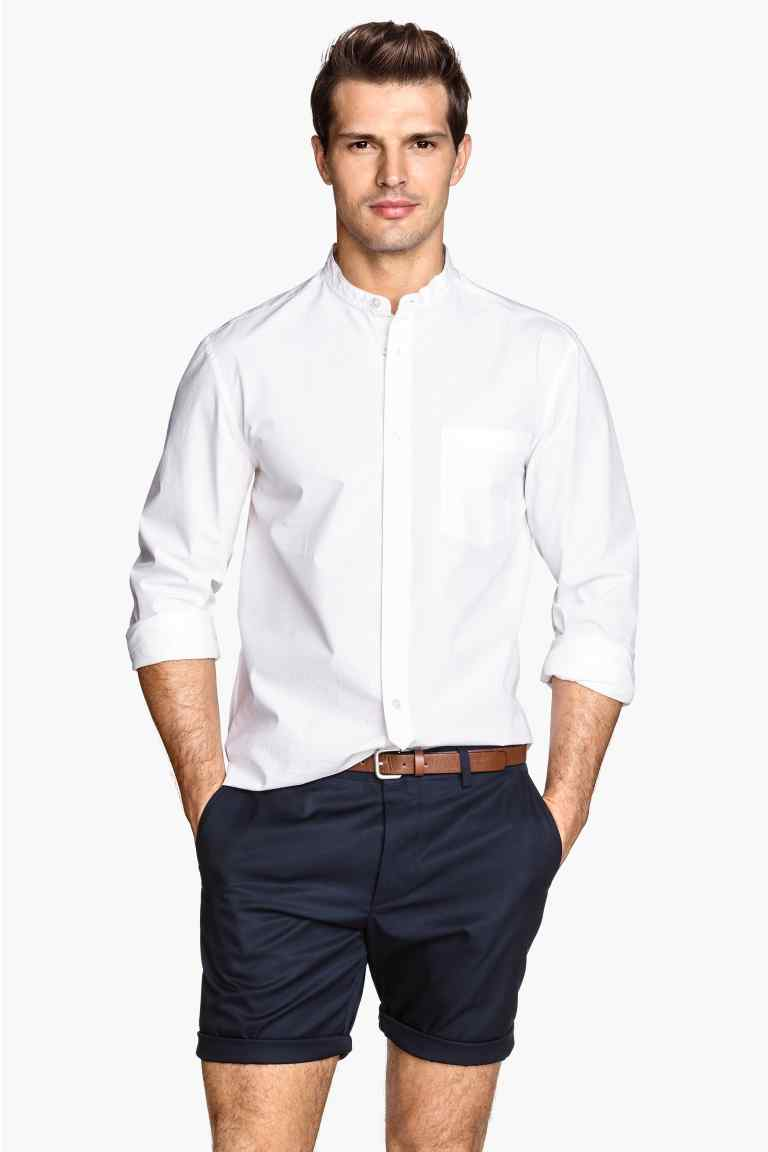 chemise col mao avec lui pas de cravate. Black Bedroom Furniture Sets. Home Design Ideas